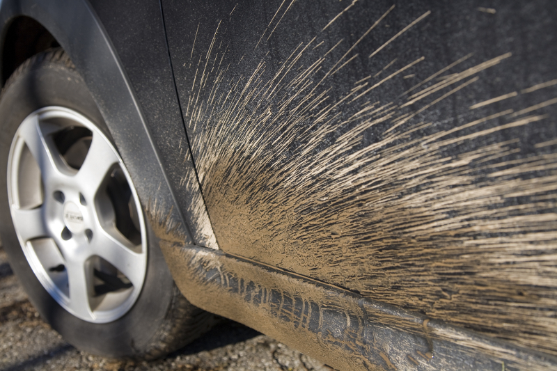 grit on car