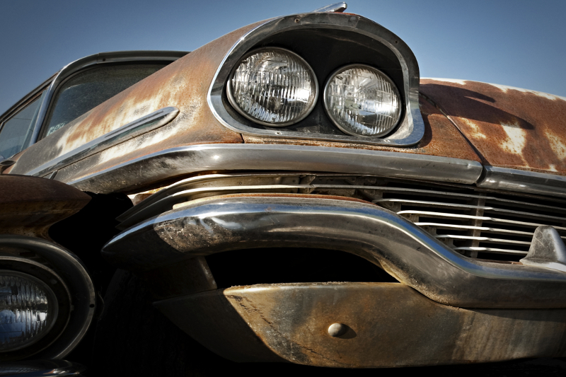 Rust, rustproofing, preventing rust, rusty car, old car, worn down, broken down, junk yard, rustproofing, corrosion, headlight
