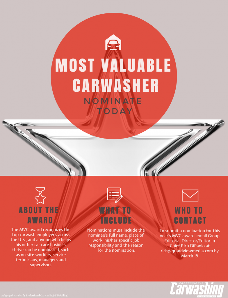 MVC Award; Most Valuable Carwasher award; PC&D MVC