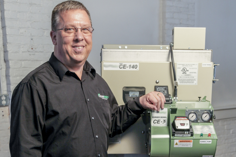 Virgil Zook, sales manager for Clean Energy Heating Systems,