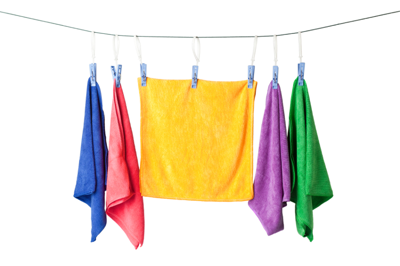 microfiber, towel, towels, laundry, caring for towels, microfiber towels, microfiber washing, washing, microfiber care, hang dry,