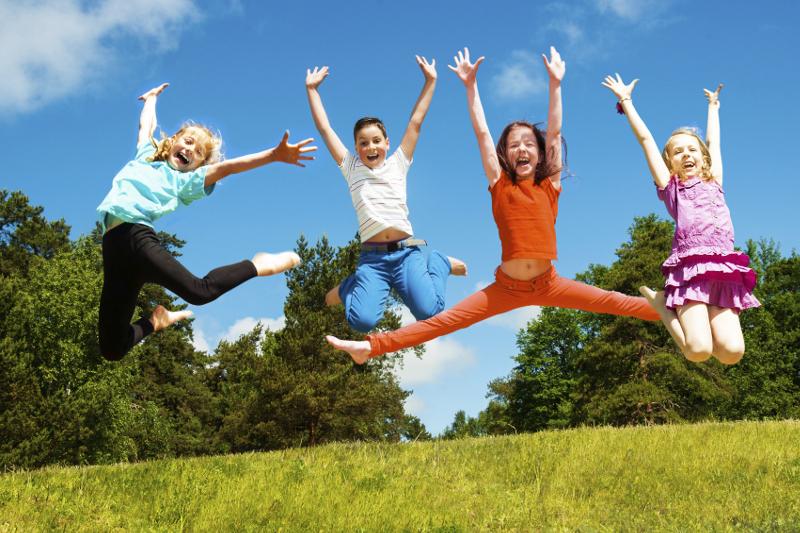 happy children, children playing, outside, summer, kids, kid-friendly