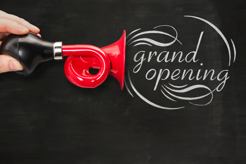 Opening, grand opening, ceremony, new business, announcement.