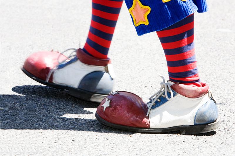 clown, clown feet, feet, shoes, clown shoes, colorful