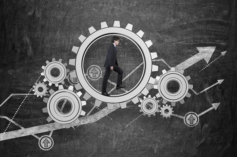 gears, upgrades, businessman, growth