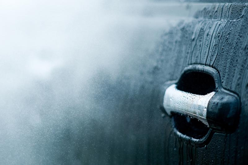 car door, handle, rain, water, carwash, car