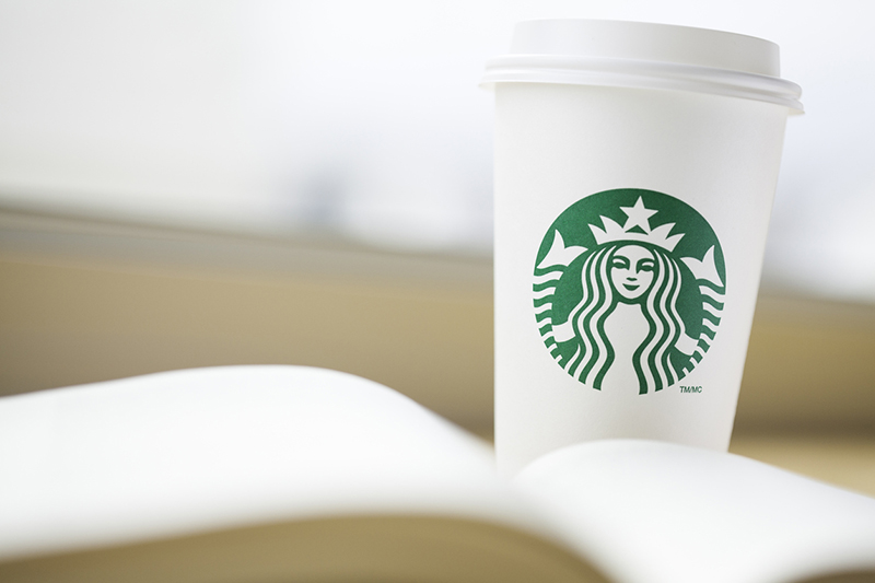Starbucks, coffee, book, coffee cup