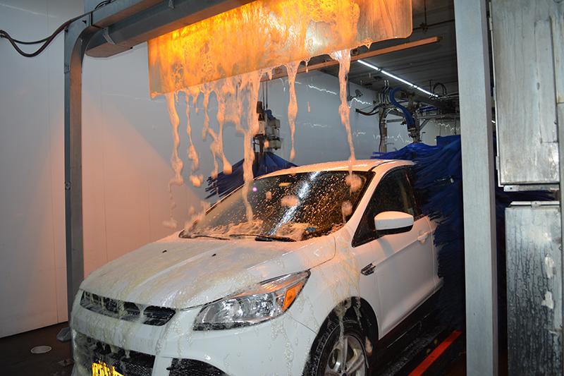 chemical application, lava bath, foam, wax, carwash