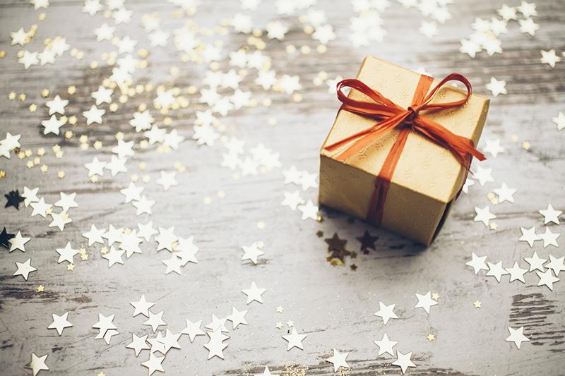 present, stars, gift