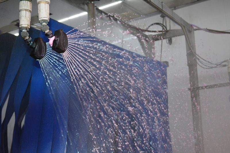 triple foam, blue, pink, mitter curtain, carwash, tunnel