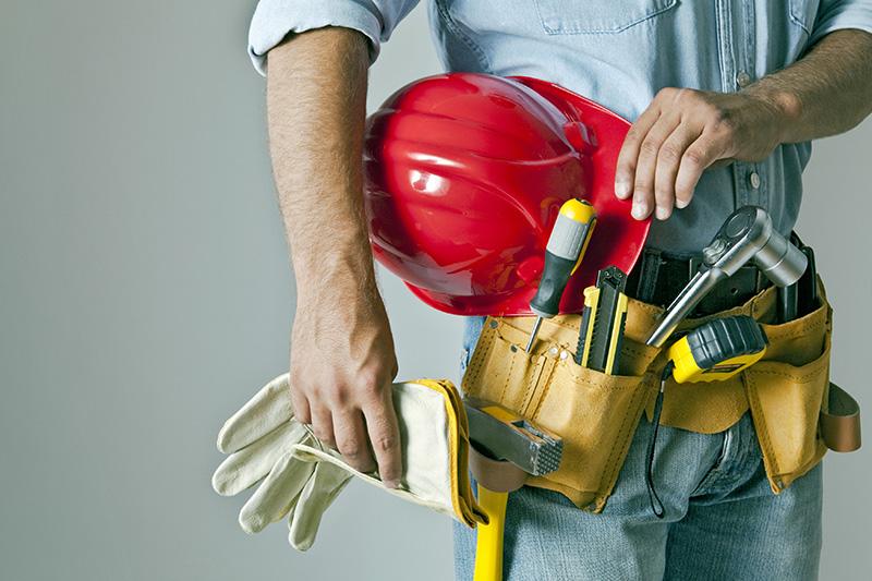 maintenance, tools, worker, helmet