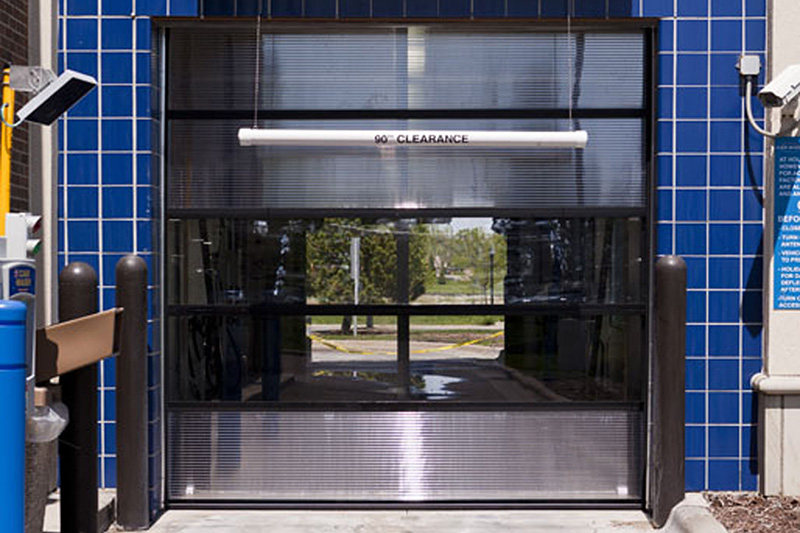 carwash door, polycarbonate door