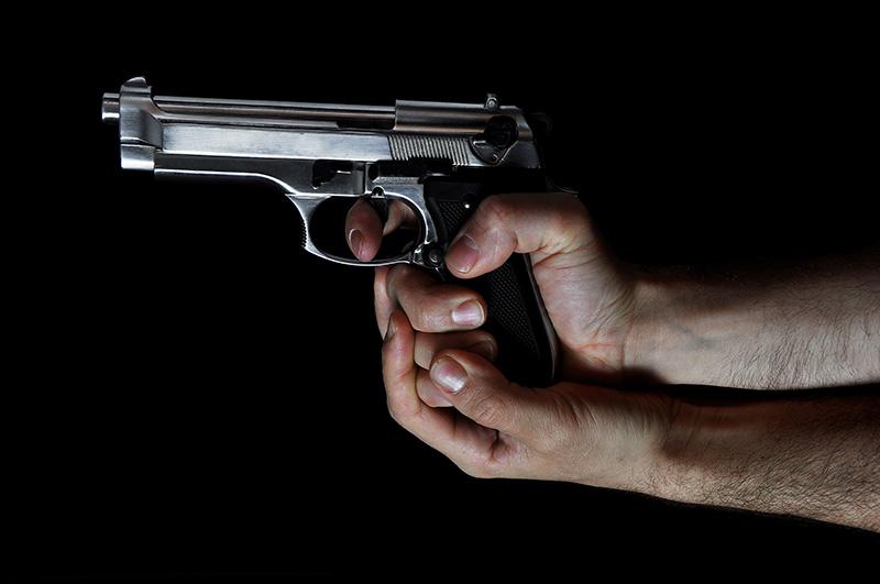 handgun, hands, shooting