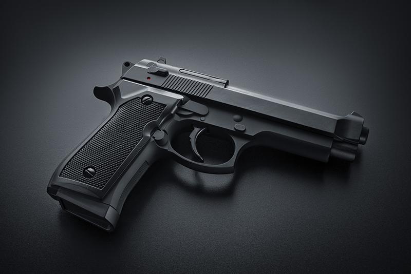 gun, semiautomatic gun