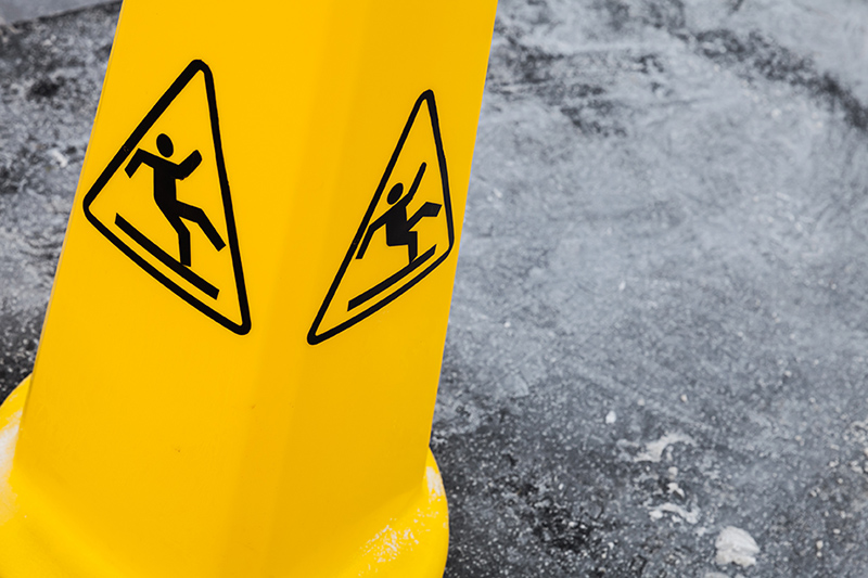 sign, safety, slippery, caution