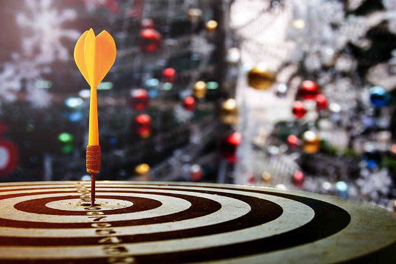 target, dartboard, holidays, Christmas trees, lights, holiday promotions, marketing