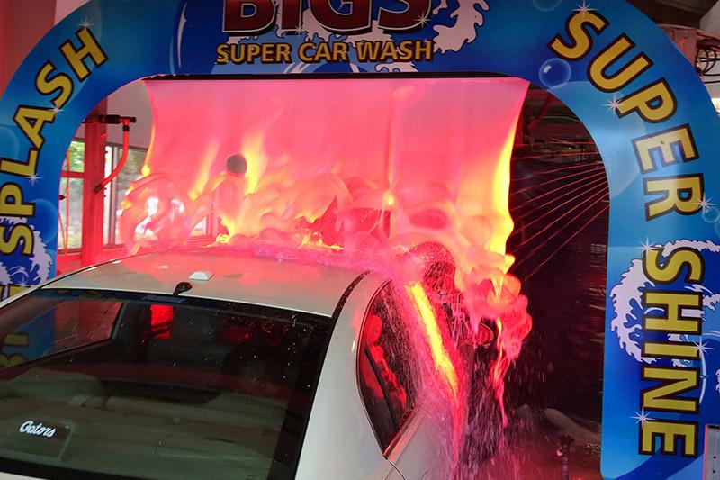 carwash arch, arches, foam, LED lighting, color, foam bath