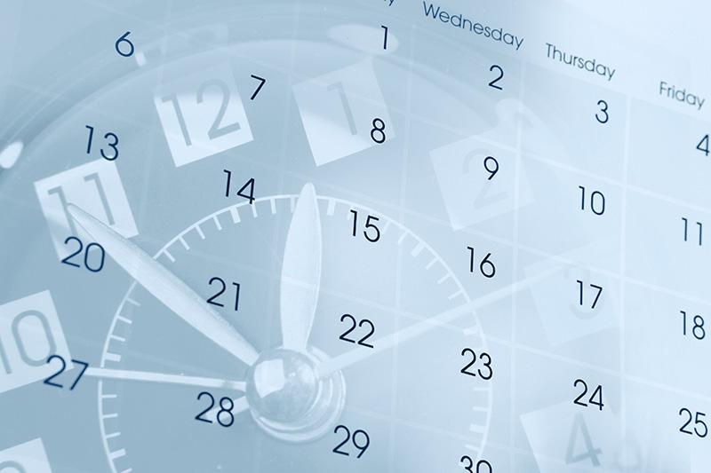 clock, calendar, schedule of events, schedule
