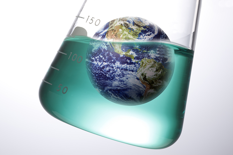 Earth, chemicals, beaker, flask, eco-friendly, environment