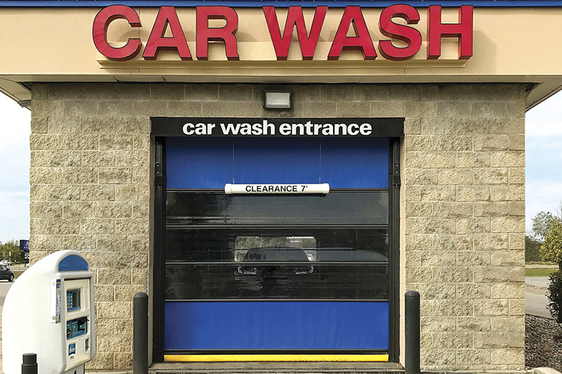 carwash door, doors, vinyl, POS system, kiosk, in-bay automatic, tunnel