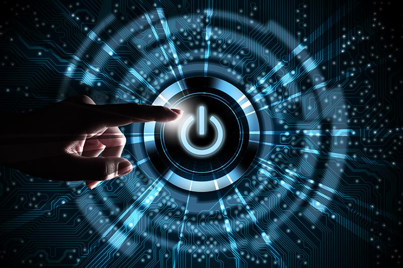 power button, hand, electronics, loyalty programs