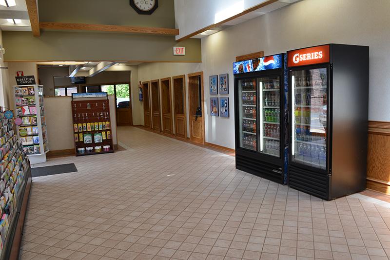 waiting room, vending machines