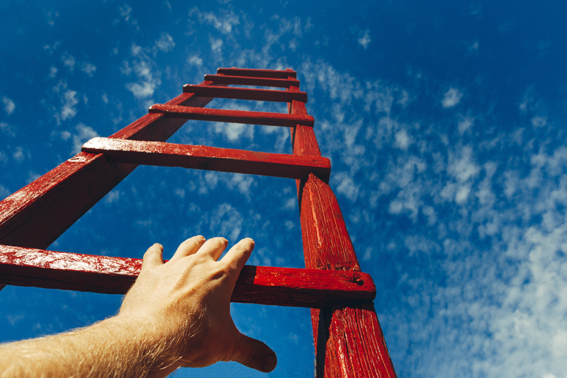 hand, ladder, motivation