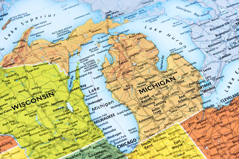 Michigan, map
