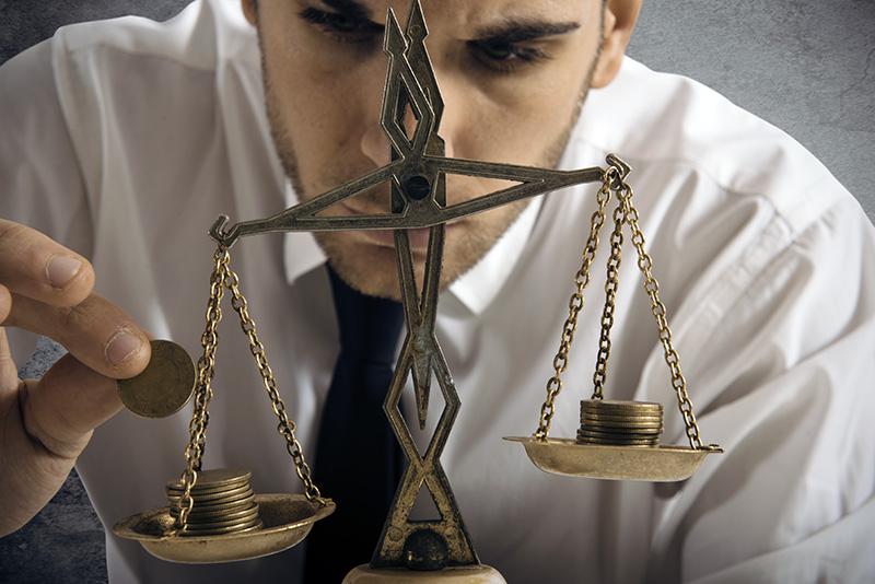 recapitalization, money, balance, scale, man