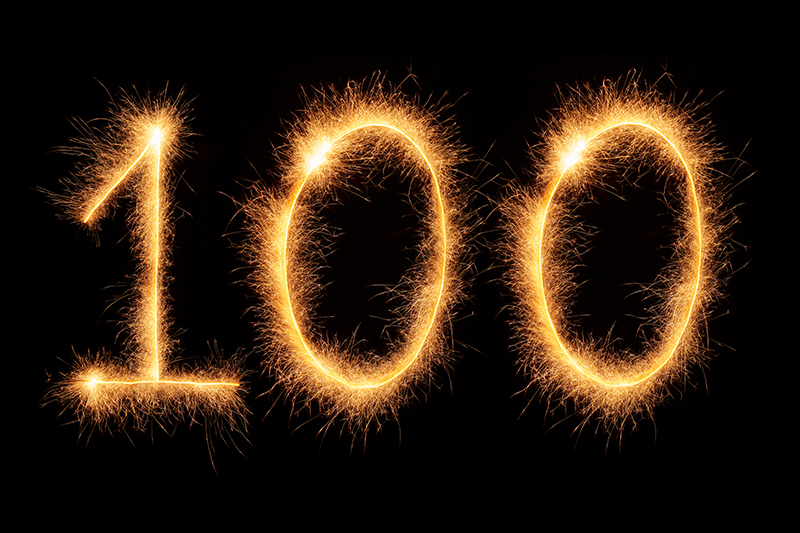 100, glowing, sparklers, fireworks