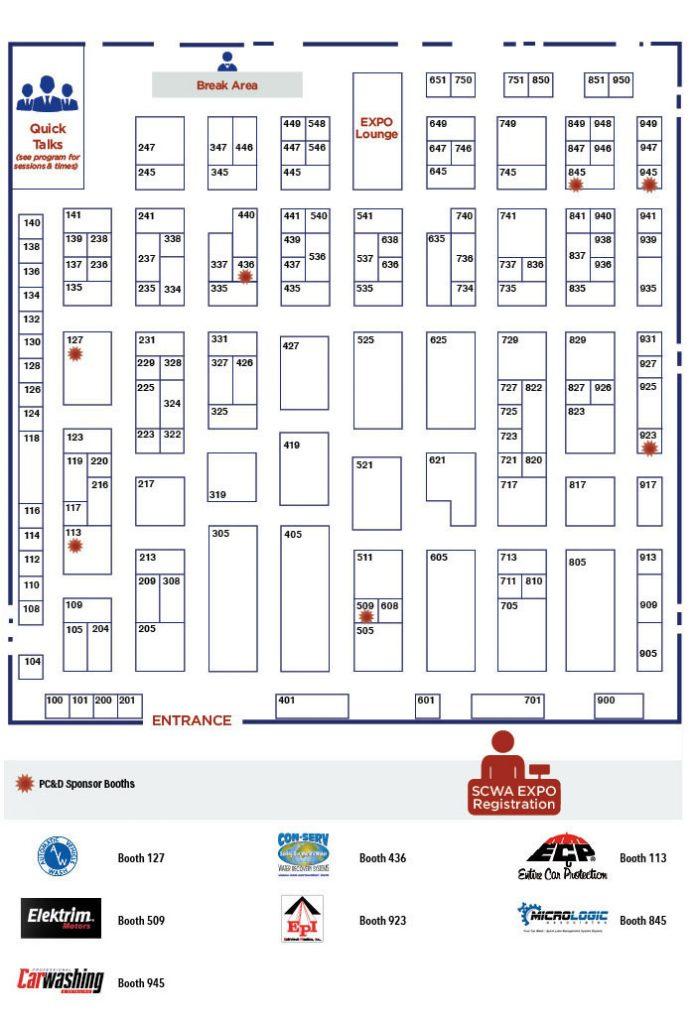 floor plan, floor map, 2020 SCWA Convention & EXPO