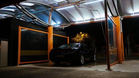 self-serve carwash, LED lighting, modern, LEDs