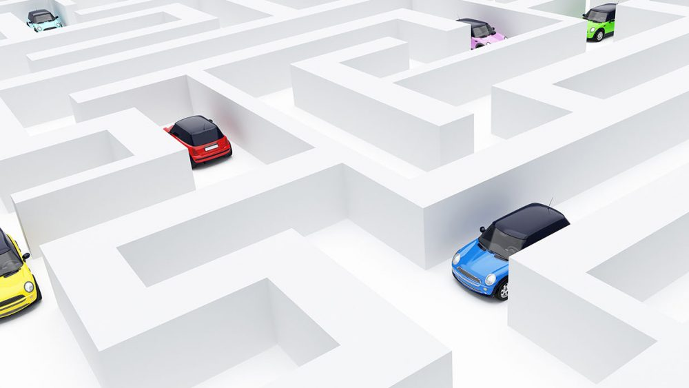 cars, maze, labyrinth, zoning, permits