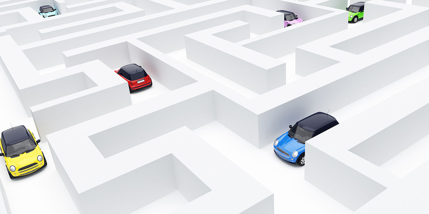 cars, maze, labyrinth, zoning, permits