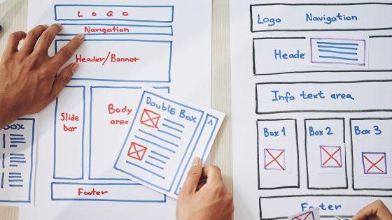 website, design, online menu, layout