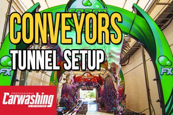 tunnel setup, conveyors