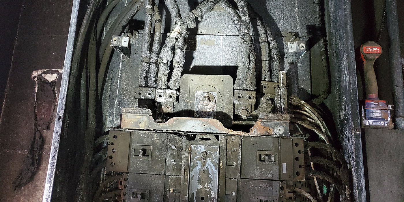 electrical fire, circuit panel