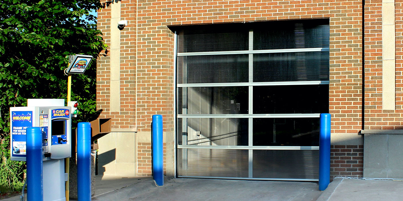 door, carwash, pay station