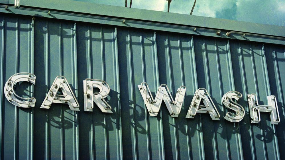 vintage, carwash, old, distressed