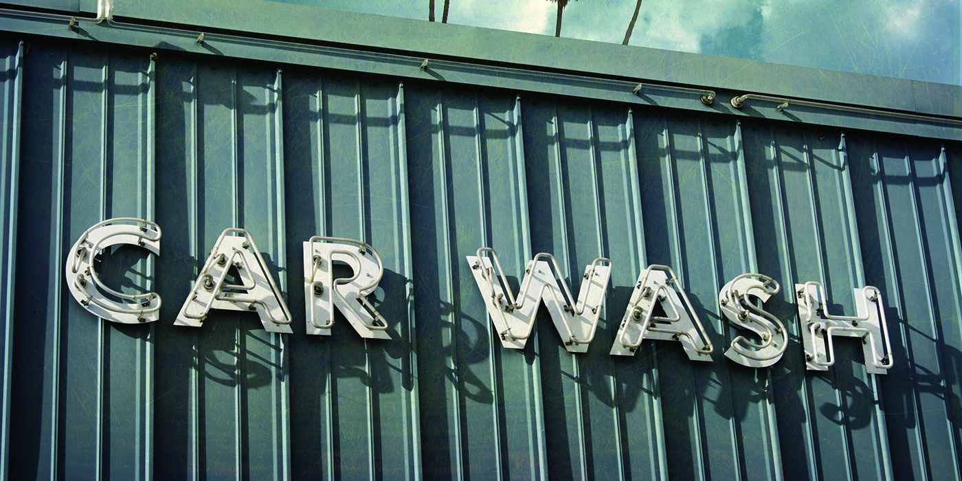 vintage, carwash, old, distressed